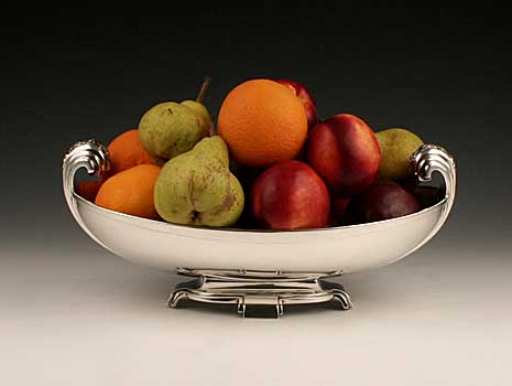 An Art Deco sterling silver fruit bowl