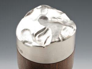 Modern sterling silver lidded box silverware 3