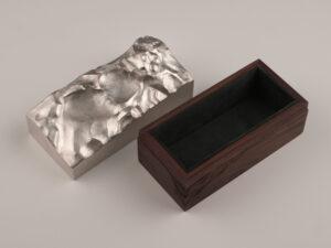 Moderne Deckeldose Sterling Silber Silberwaren 6