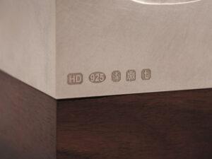 Modern sterling silver lidded box silverware 9