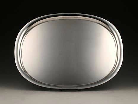 """A sterling silver tray in """"Elipse"""" pattern #1146C"""
