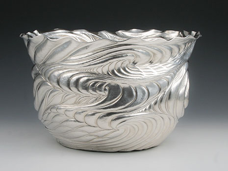 "An outstanding ""Infinitude"" fine silver champagne cooler"