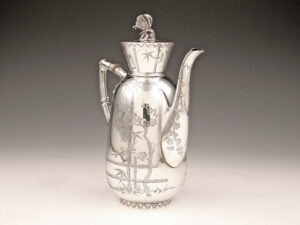 Aesthetic Movement antique silver coffeepot Art & Crafts silver coffee pot silver
