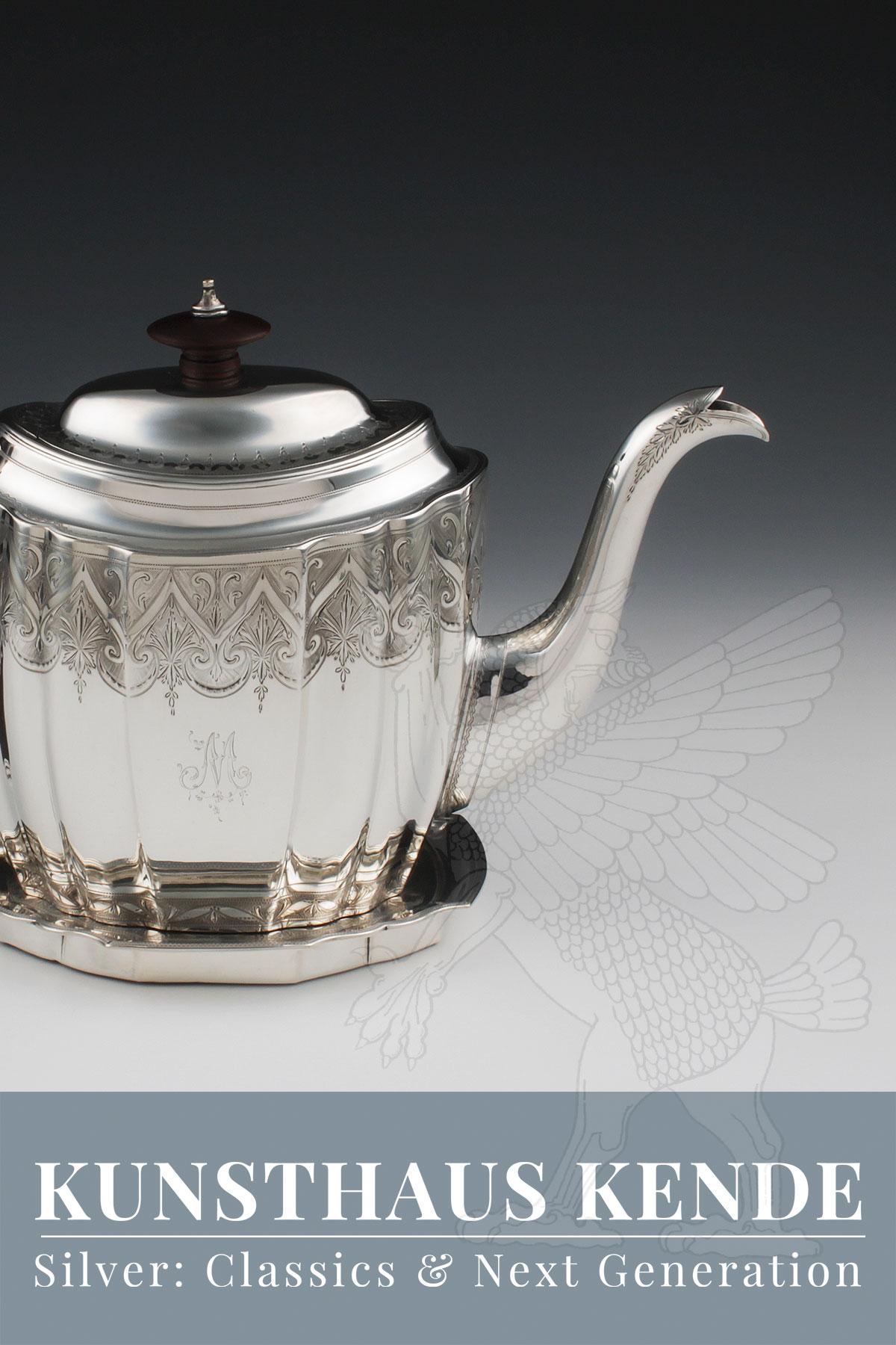 Englische Sterling Silber Teekanne antike Robbe 925 Silber Tablett Kanne Sheffield