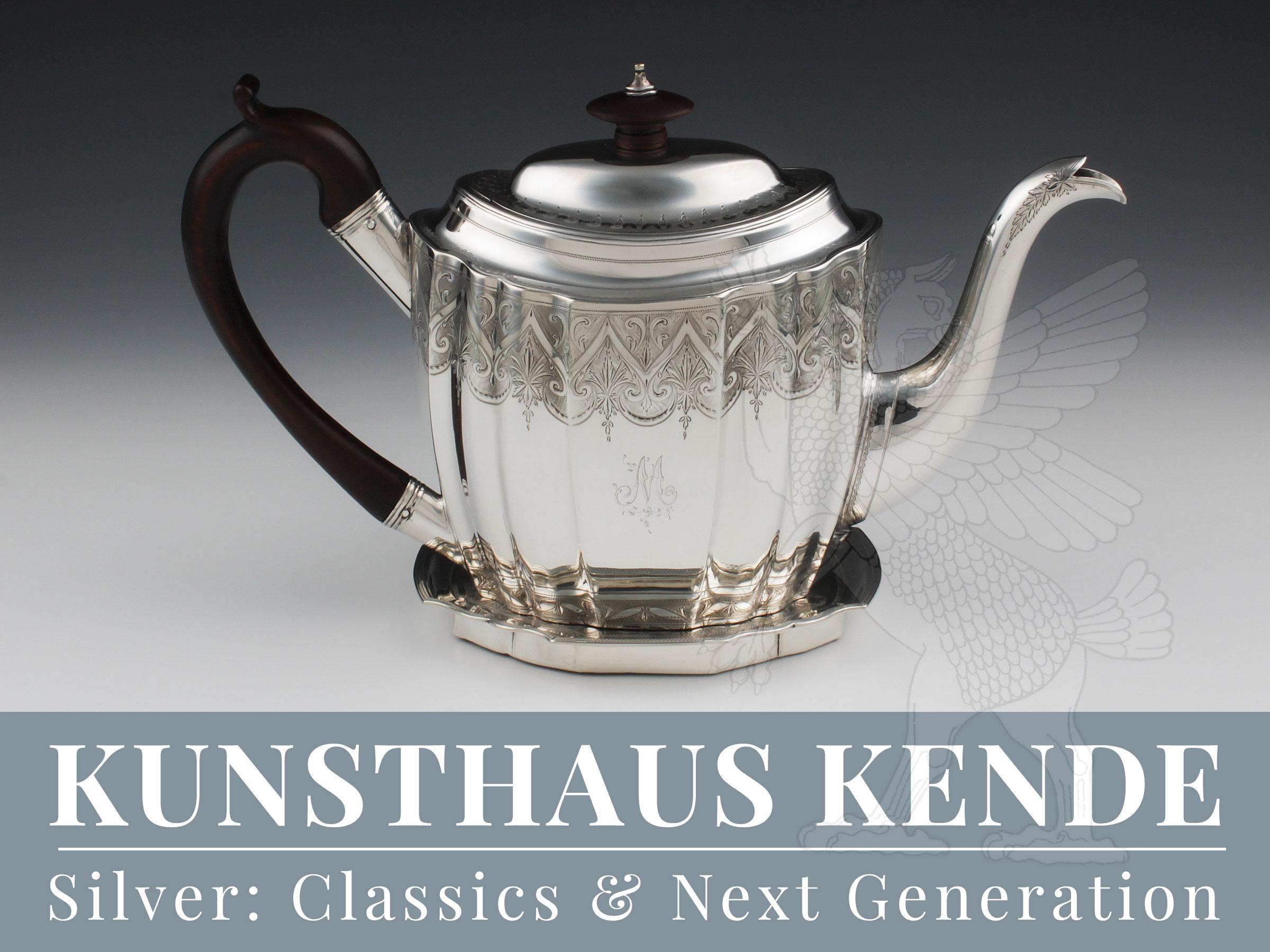 Englische Sterling Silber Teekanne Art Deco London 1798 Bateman Bruckmann Tee