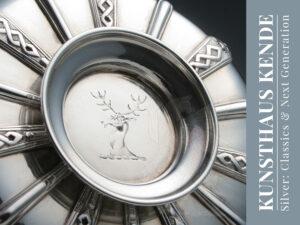 Georg II Sterling Silber Zuckerschale antik antikes Silber Silberwaren Tafelsilber