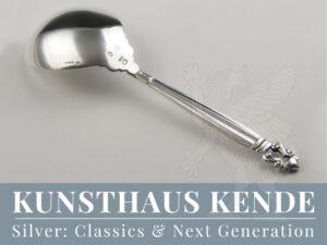Georg Jensen Acorn Harald Nielsen Vorlegelöffel Kerzenhalter flatware spoon
