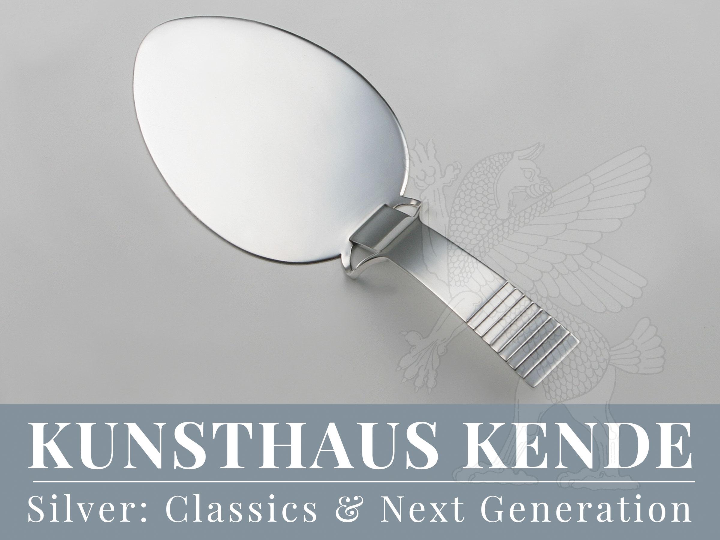 Georg Jensen Parallel Pastetenheber Sterling-Silber silberwaren silber besteck Relief
