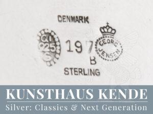 Georg Jensen Sterling Silber Schale Fußschale Silber 925 Manhattan Gustav Pedersen
