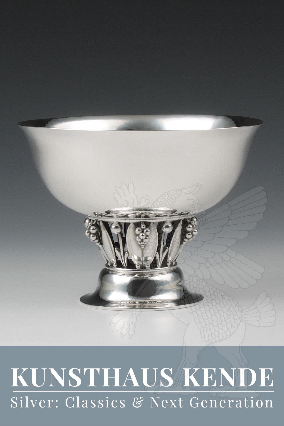 Georg Jensen Sterling Silber Schale Fußschale sterling silver Johan Rohde Louvre