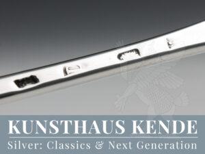 Georgian sterling silver hash spoon London antique silver cutlery flatware George II