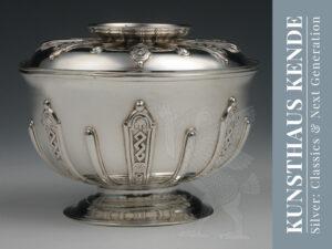 Georgian sterling silver lidded sugar bowl George II sugar tongs antique