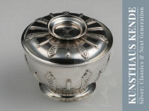 Georgian sterling silver lidded sugar bowl antique georgian antique silver