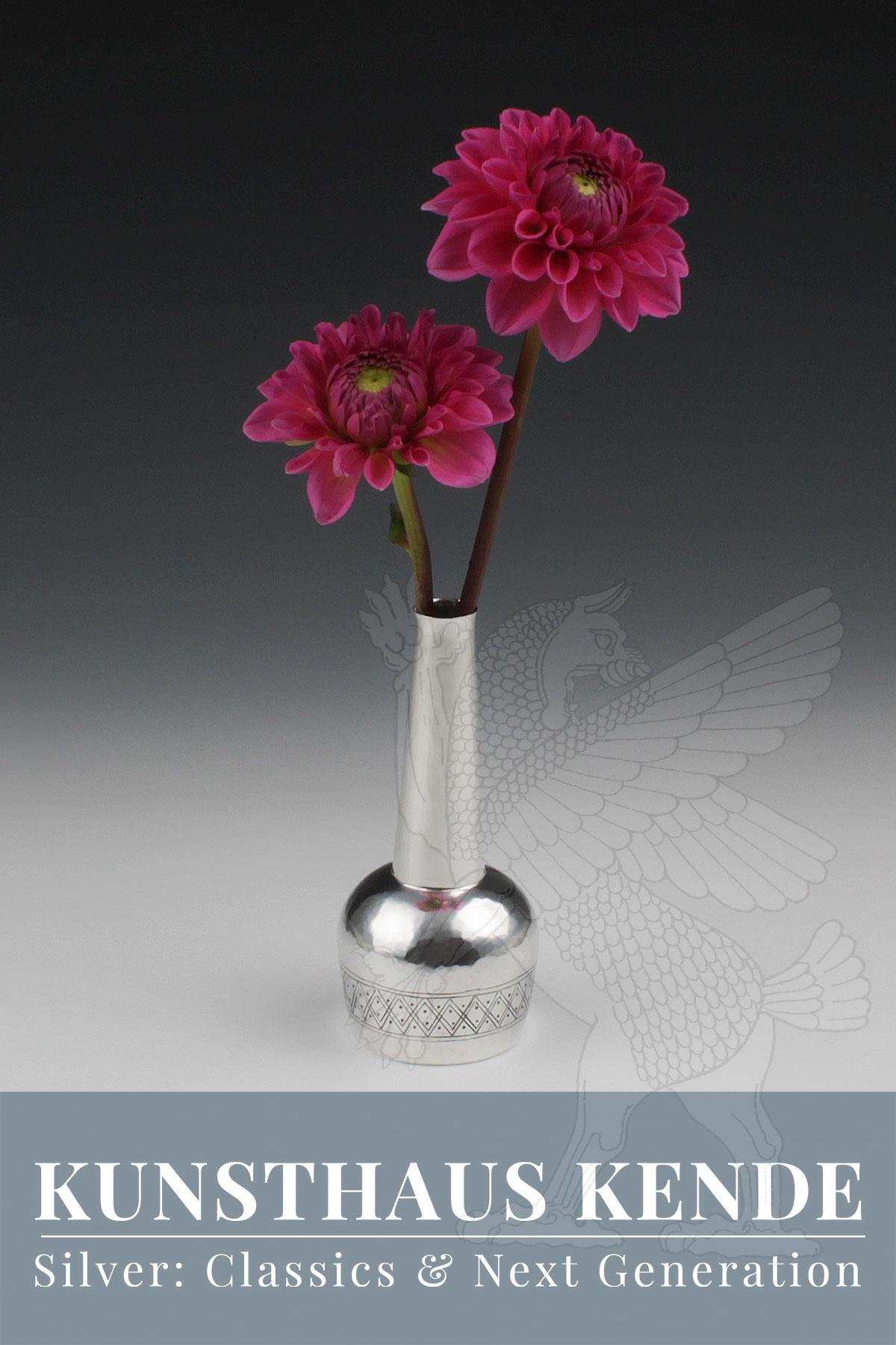 gotthold schönwandt silber vase künstler teekanne antiquitäten modernes silber