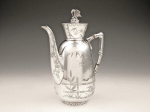 antique silver Aesthetic Movement sterling silver teapot Art & Crafts silverware