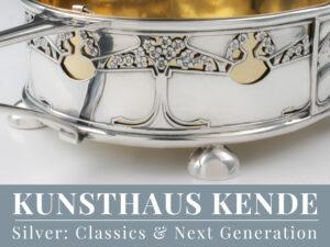 Jugendstil Silber sterling silver Connells Cheapside Fischbesteck Schale Jardiniere