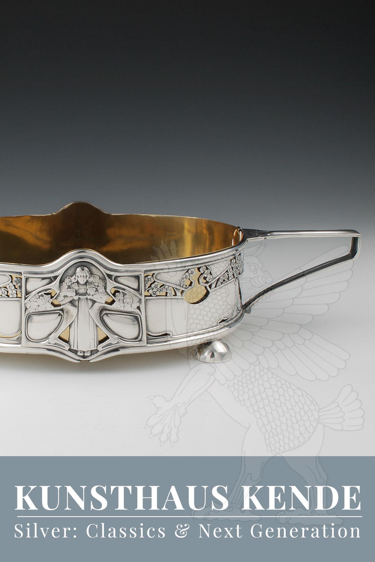 Jugendstil Sterling Silber Bruckmann Weltausstellung Paris 1900 Harris Art Nouveau