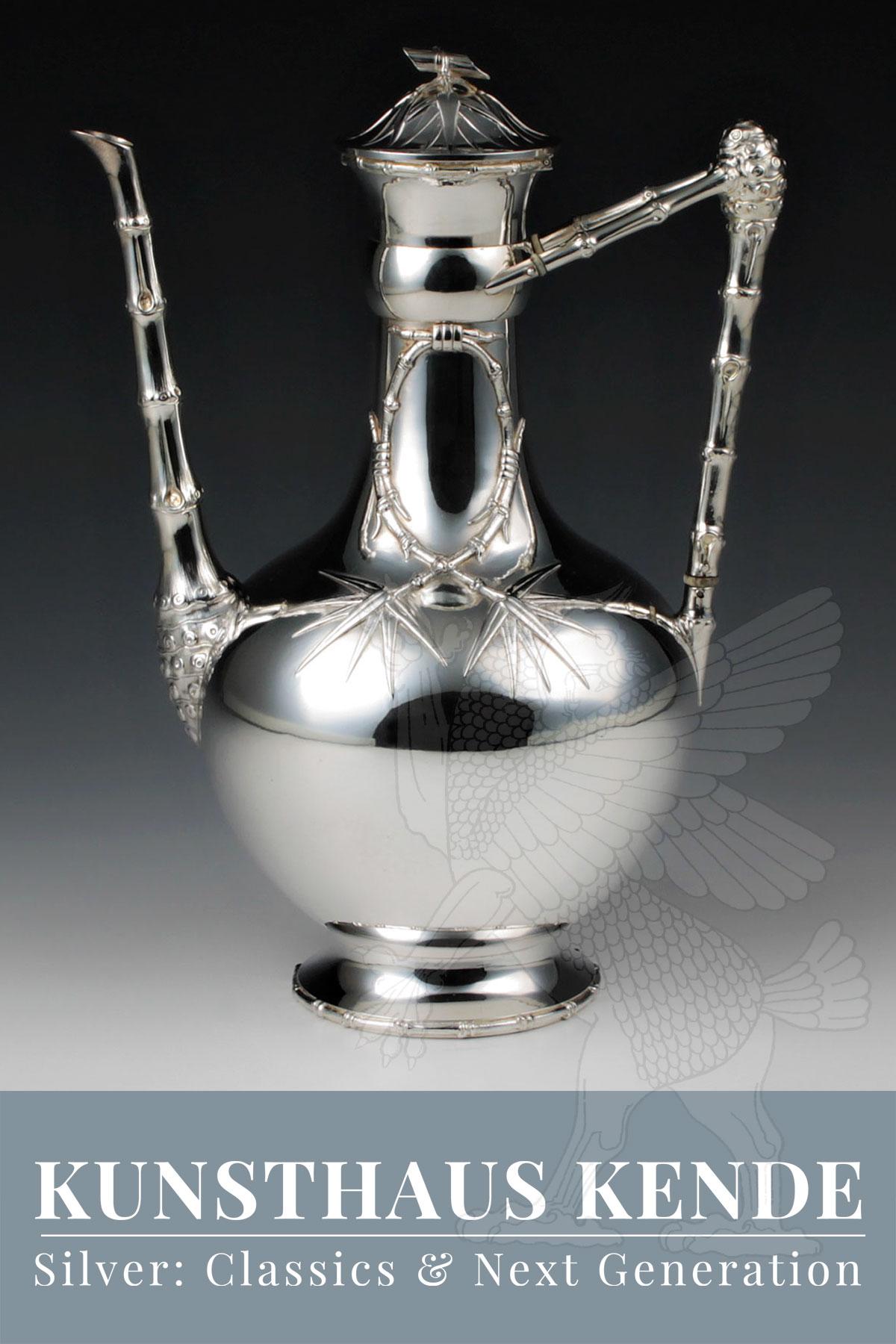 japanese aesthetic circa 1885 Aesthetic Movement sterling silver coffee biggin