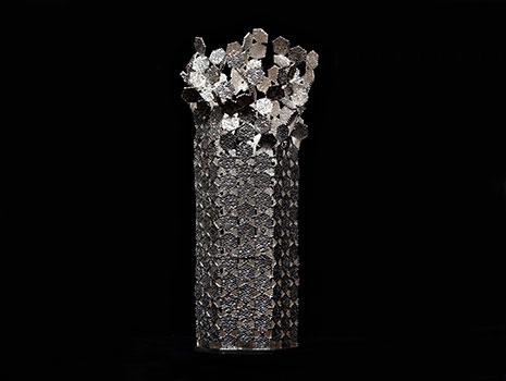 """A modern sterling silver """"Growth"""" vase"""