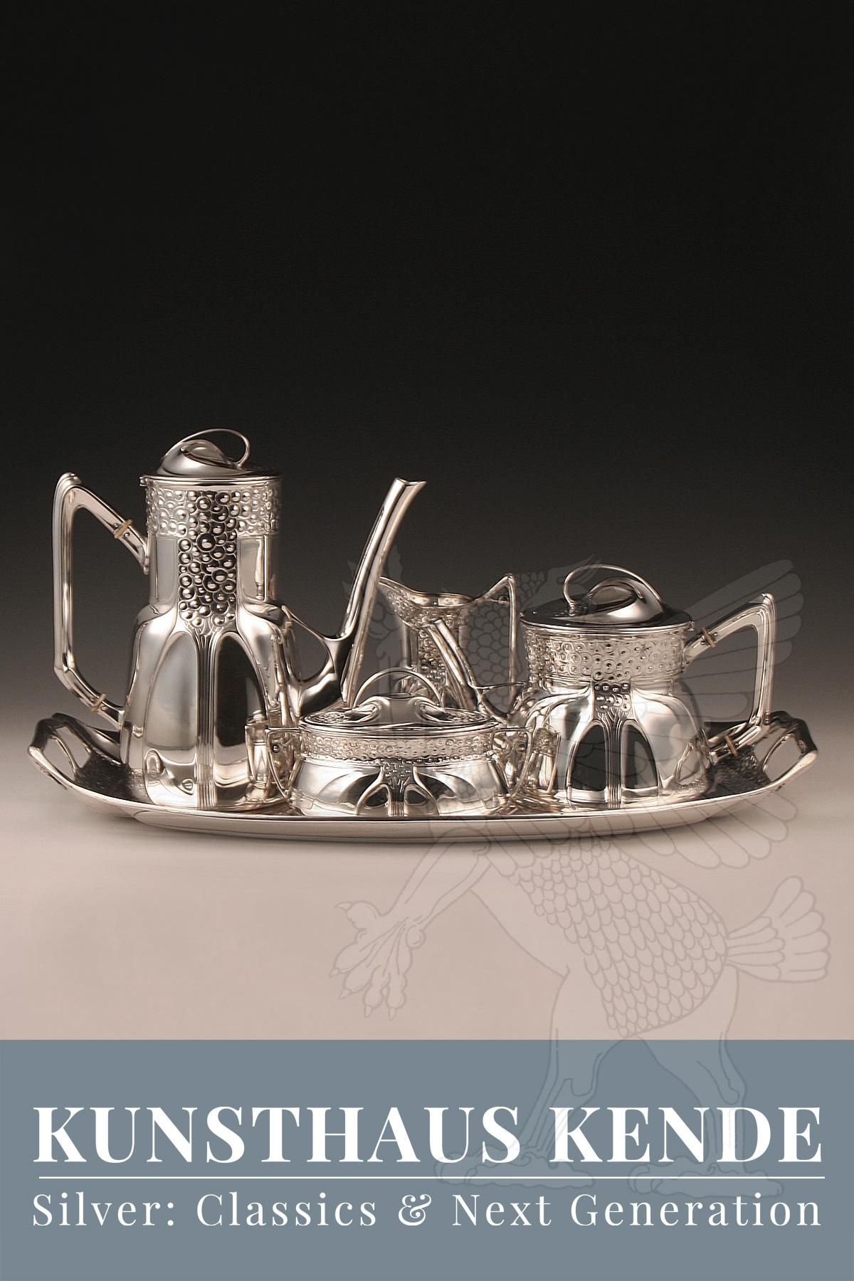 Orivit Jardiniere Silber Weinkühler Jugendstil Vase Kaffeeservice Tablett oag