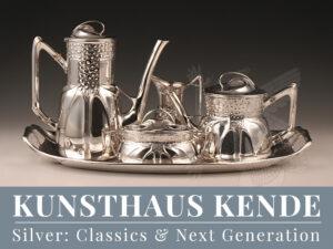 Orivit Silber Weinkühler Vase Tablett Jardiniere sterling silber Hubert Schmitz