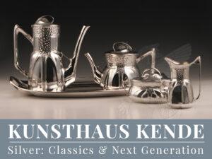 Orivit Silber Zinn WMF Jugendstil Vase Teekanne OAG Ferdinand Hubert Köln Bowle