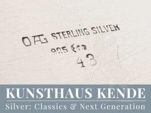 Orivit Tablett Silber Jugendstil Vase Oag Ferdinand Hubert sterling silver Köln