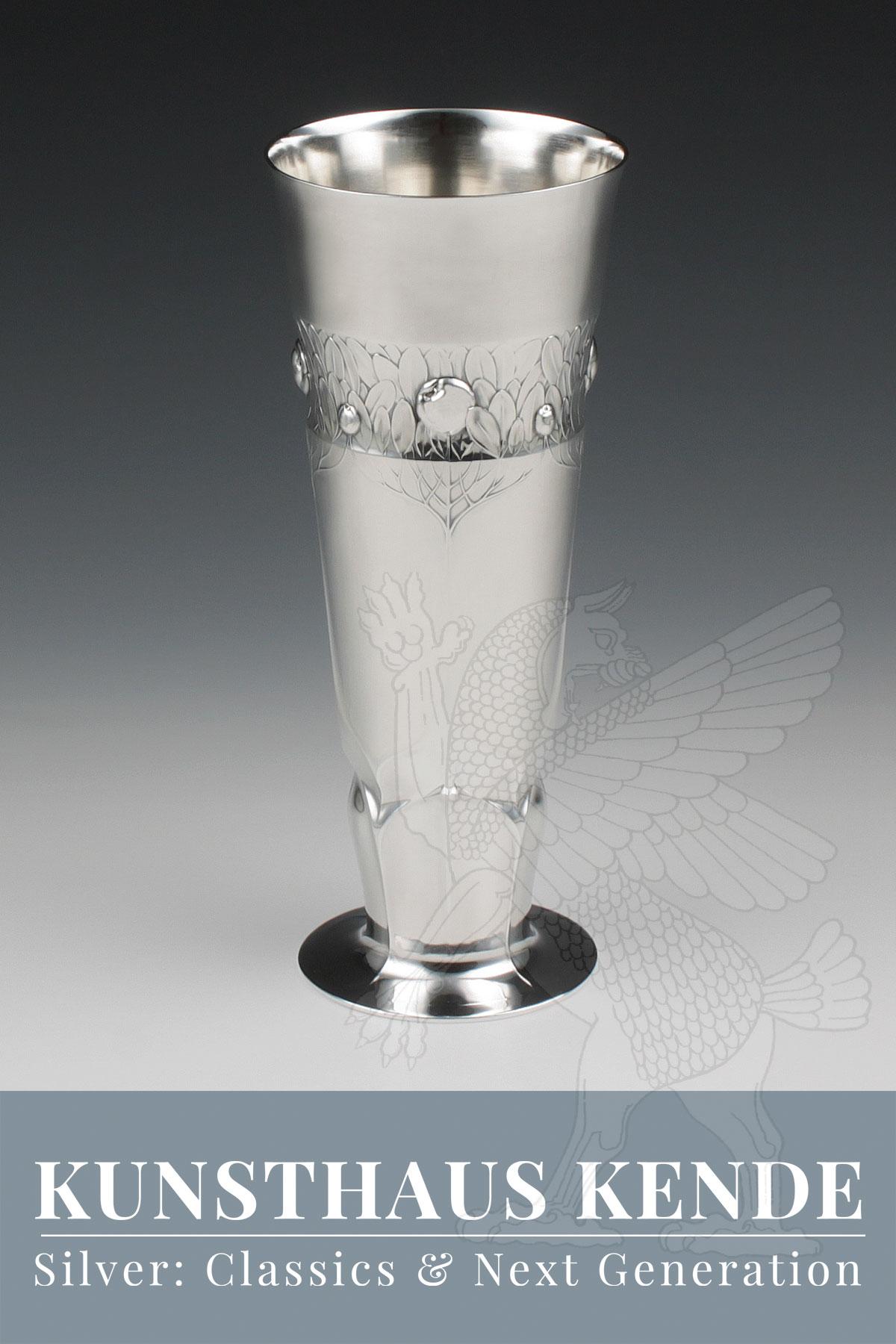 Orivit Vase Sterling Silber Jardiniere Silber Hubert Schmitz WMF Teekanne OAG