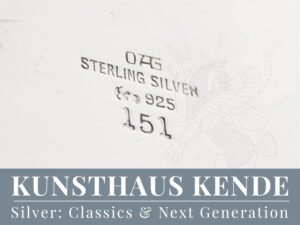 Orivit Weinkühler Jugendstil Silberschale Tablett Hubert Schmitz Jugendstil Vase