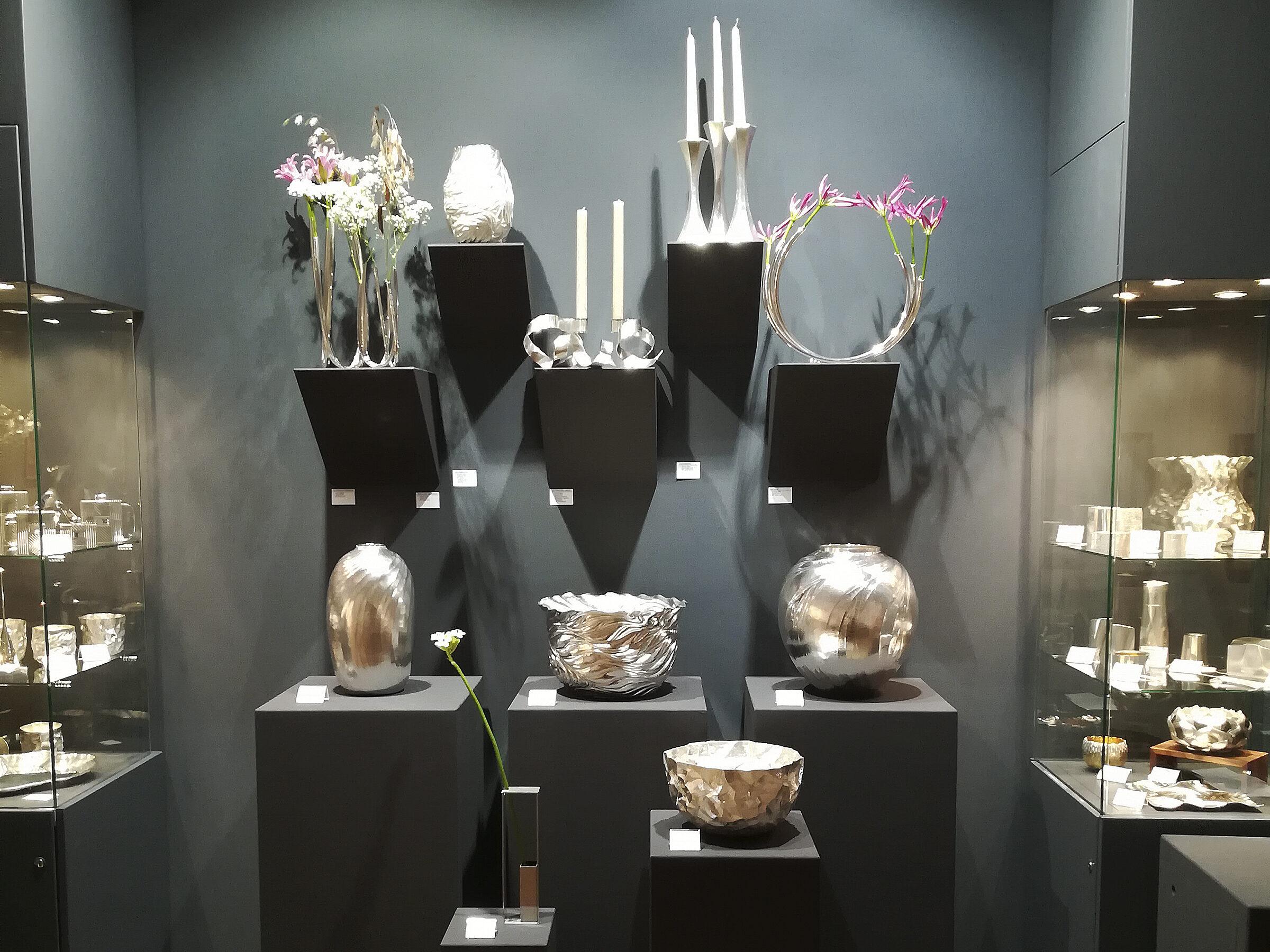 Silberbesteck Teekanne Silber Tafelsilber Silberwaren Jensen Besteck modernes Silber