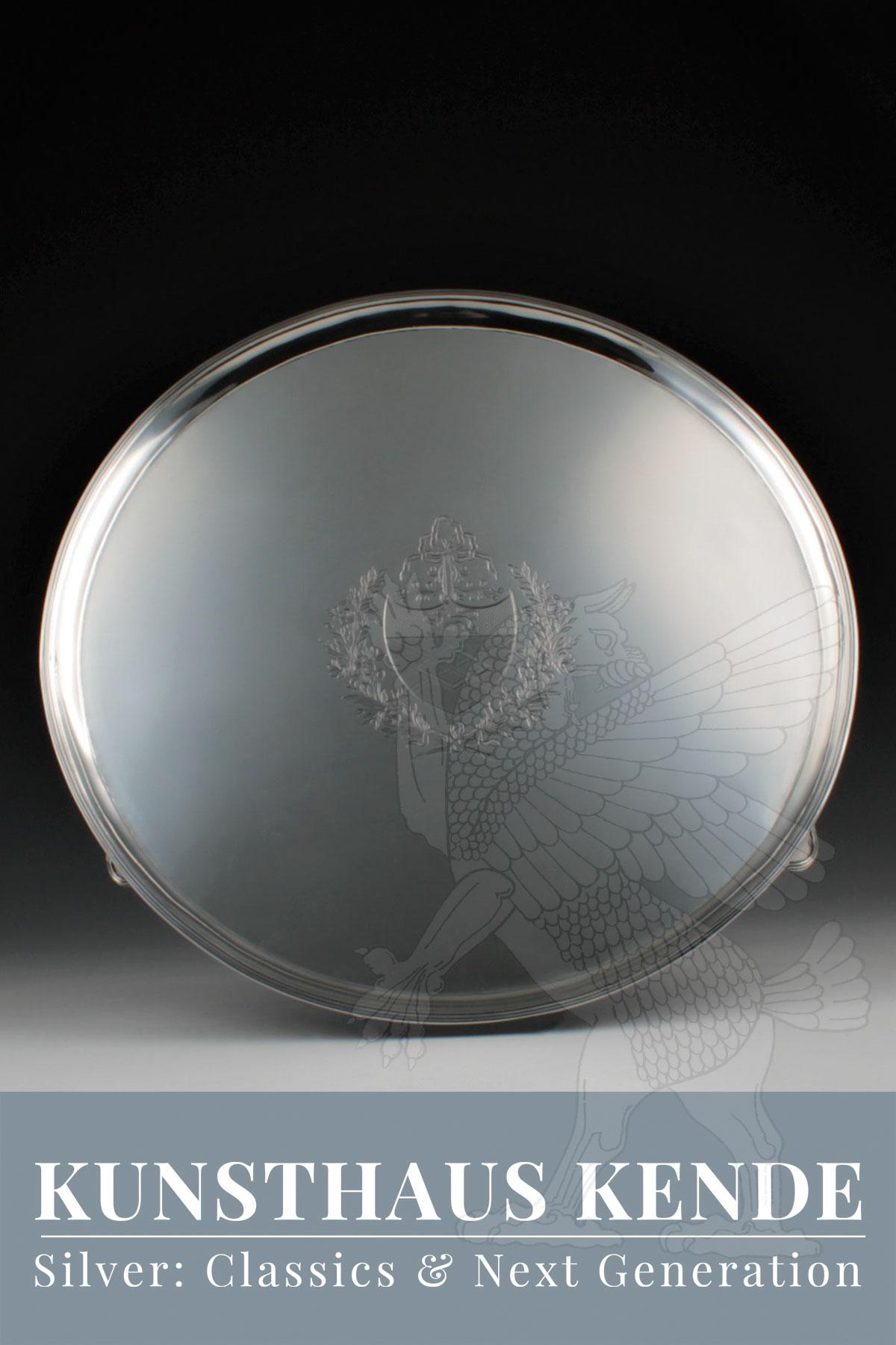 Sterling Silber Tablett Silver Salver Tafelsilber Schale Silberbesteck Besteck