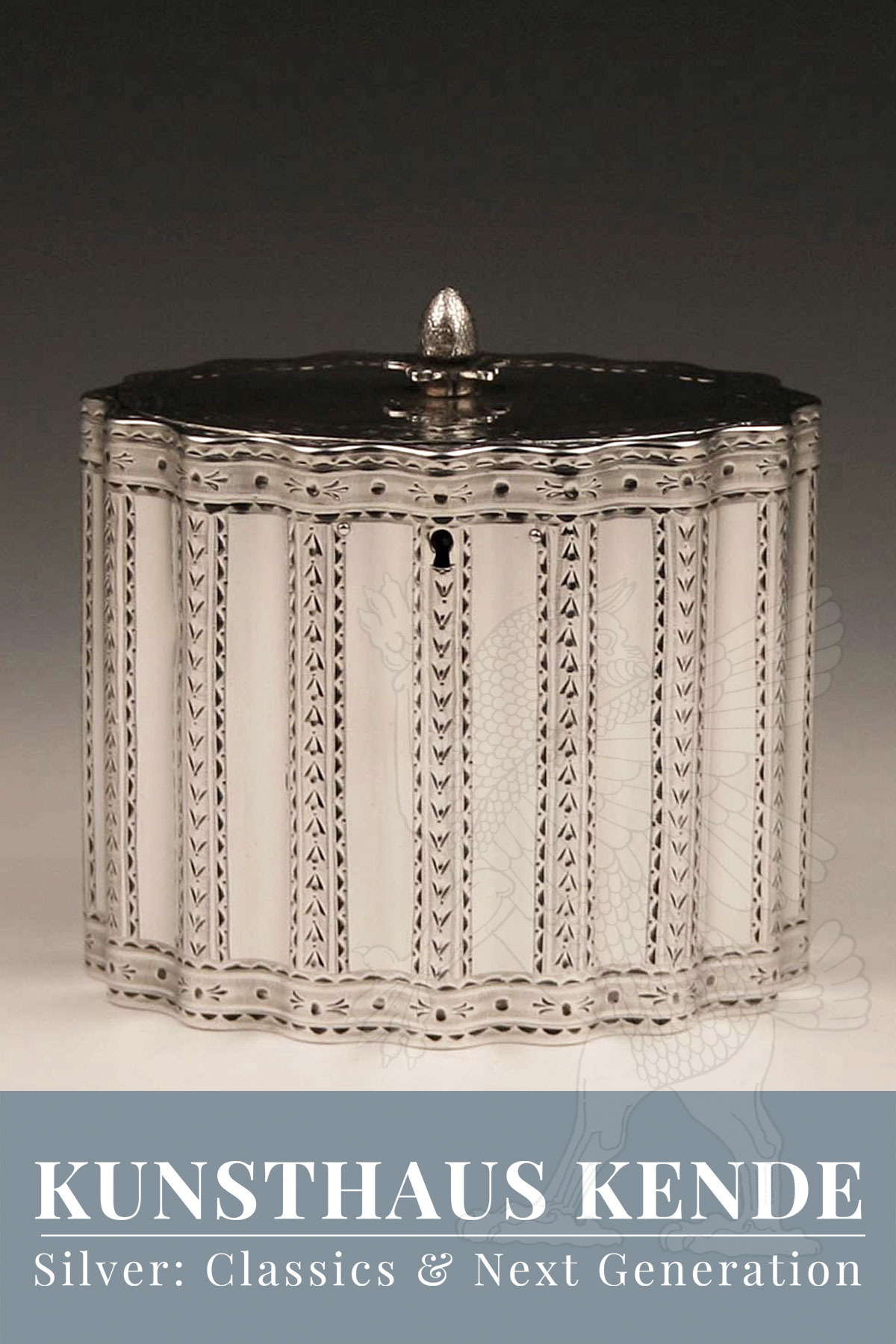 teedose sterling silber London 1781 englische dose caddy antik robert hennell