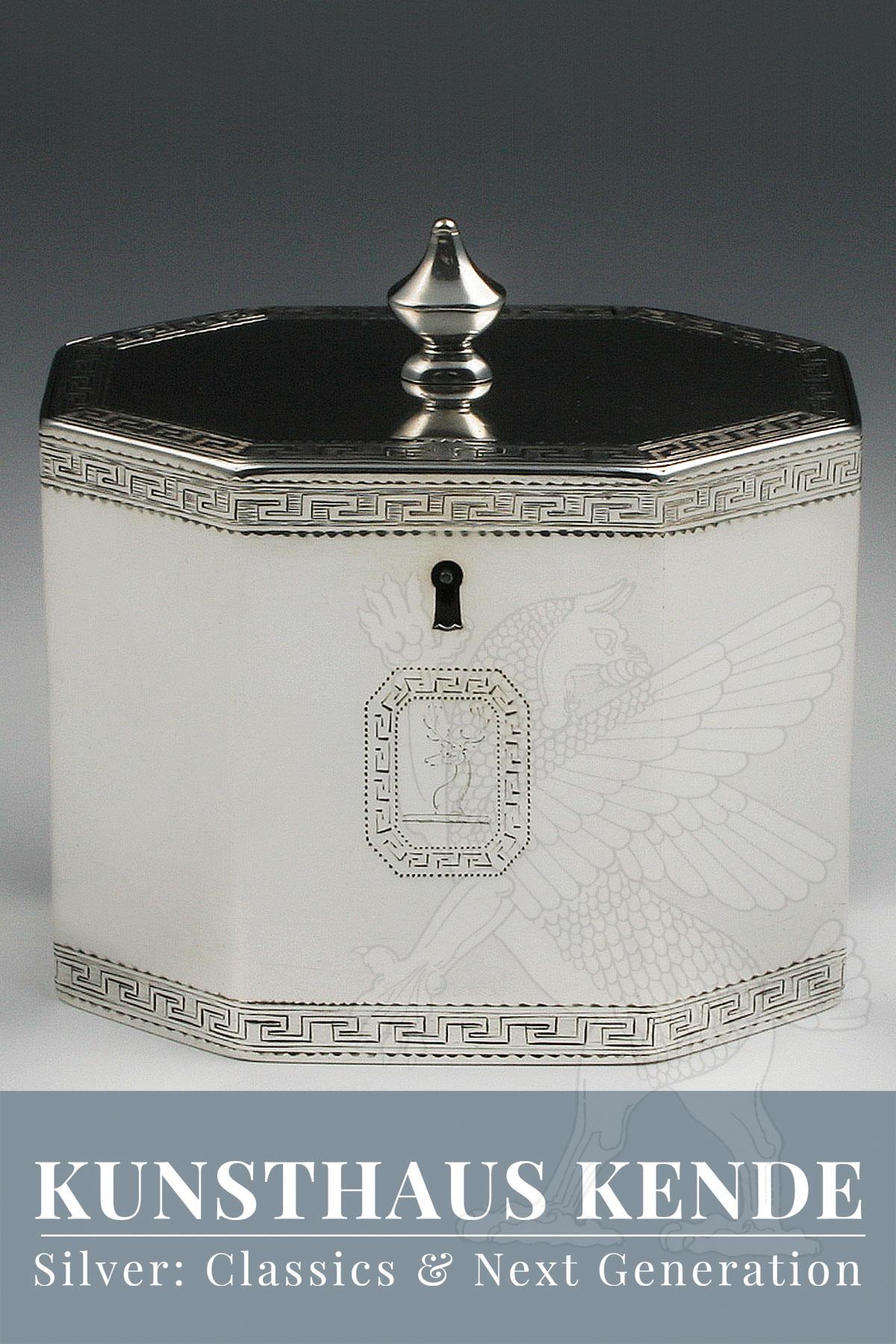 teedose sterling silber London 1787 antik alte englische george iii englische