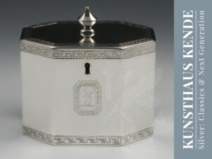 teedose sterling silber London 1787 englische george iii dose caddy silber 925