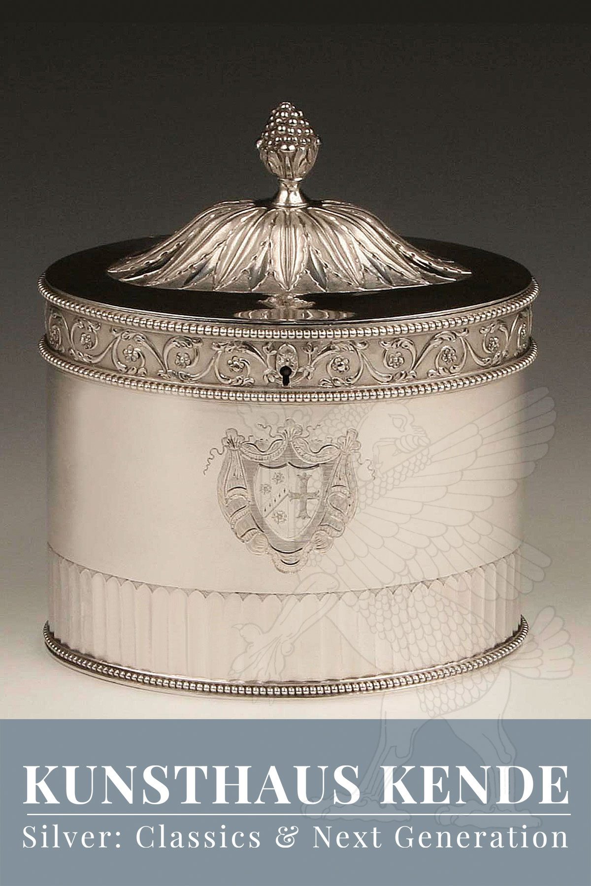 teedose sterling silber London 1792 englische george iii dose caddy silber 925