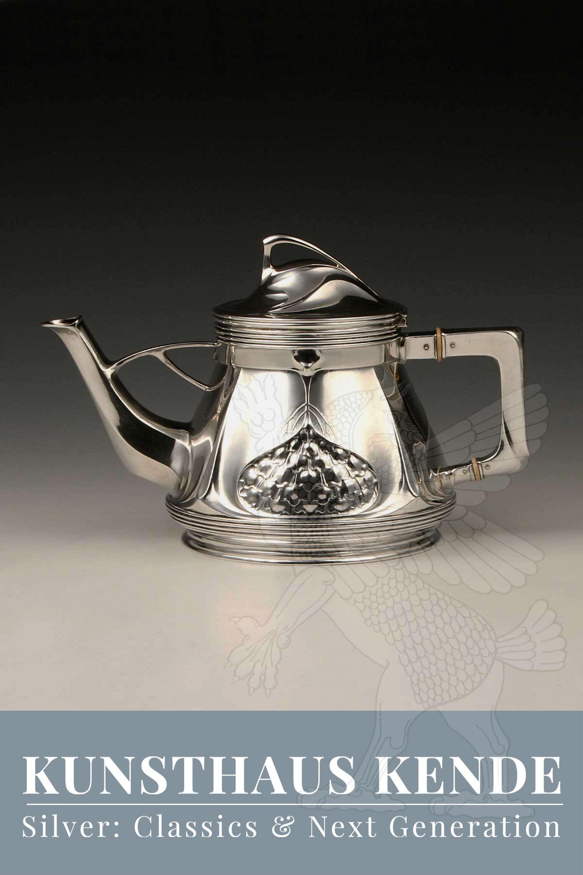Teekanne Orivit Silber Kaffeeservice Art Nouveau Orivit Zinn Kelch Wmf Jugendstil