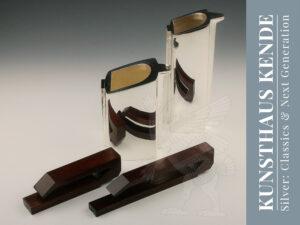 Teeservice Silber modern England 925 sterling Art Deco Sterling Silber Tablett