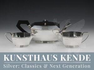 Teeservice Sterling Silber Art Deco Bruckmann Teekanne Tee Kaffeekanne