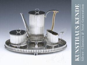 Wiener Werkstätte Silber Mokkaservice Josef Hoffmann Jugendstil Sonja Knips MAK