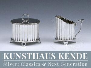 Wiener Werkstätte Silber Teeservice Gustav Klimt 800 Silber angewandte Kunst MAK